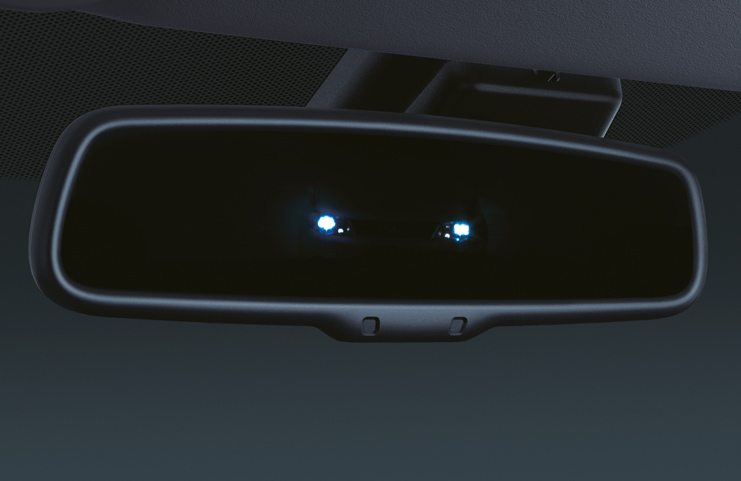 Automatikusan sötétedő visszapillantó tükör