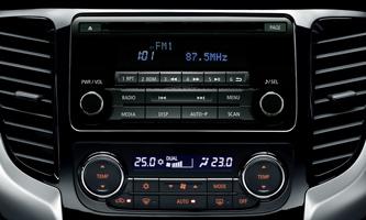 2DIN AM/FM rádió, CD-lejátszó