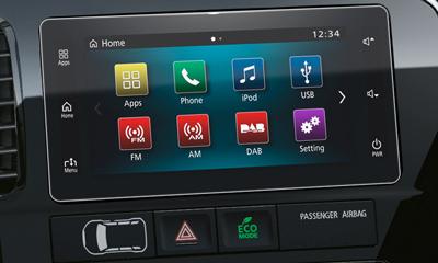 Audiorendszer érintőképernyővel