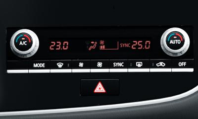 Kétzónás automata klímaberendezés